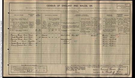 1911 Census of Battersea, London