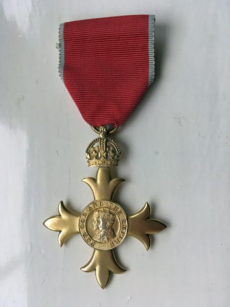 Photograph of O.B.E. Medal