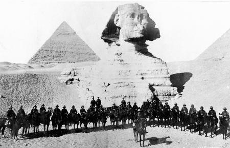 D Mobile Veterinary Sec. in front of the Sphinx.