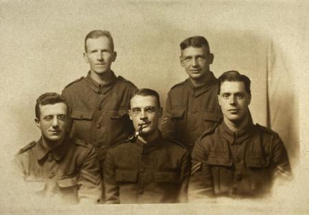 Charles Dickson with other Corporals