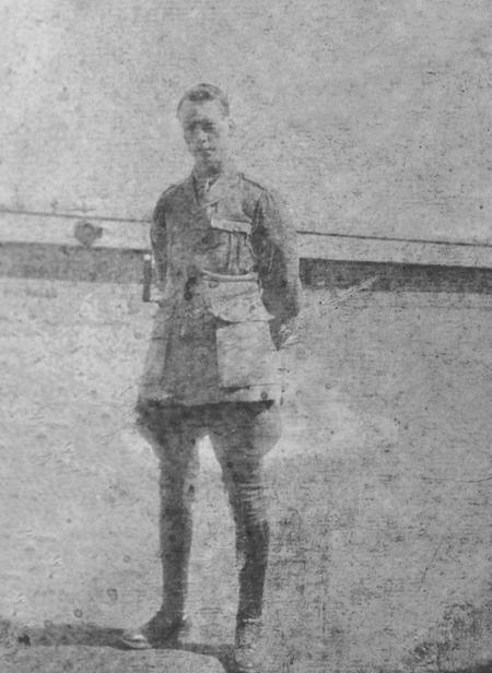 2/Lt Edgar George Chappell 1916.