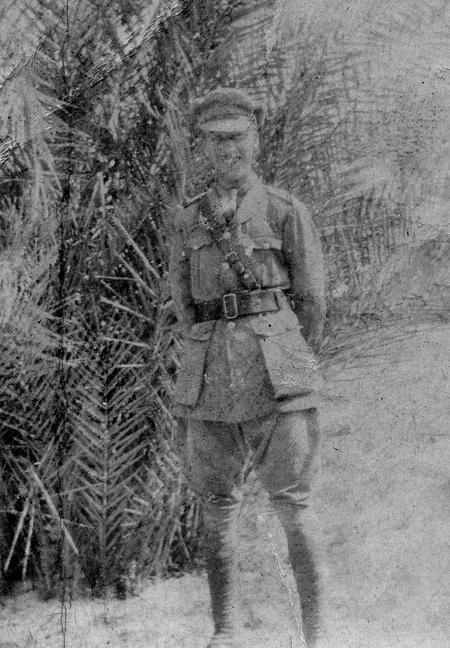 2/Lt Edgar George Chappell, Cairo 1916.