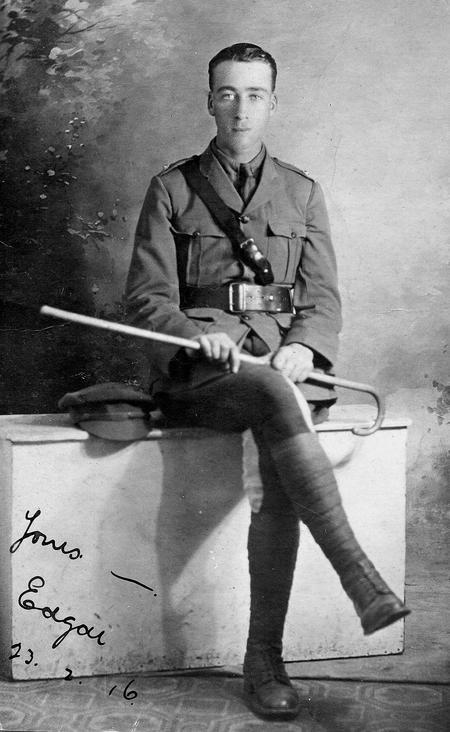 2/Lt. Edgar George Chappell, Cairo, 1916.