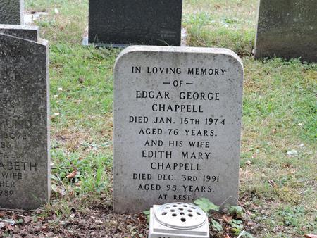Gravestone of Edgar George Chappell