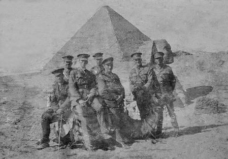 Junior officers at Giza, Cairo, 1916
