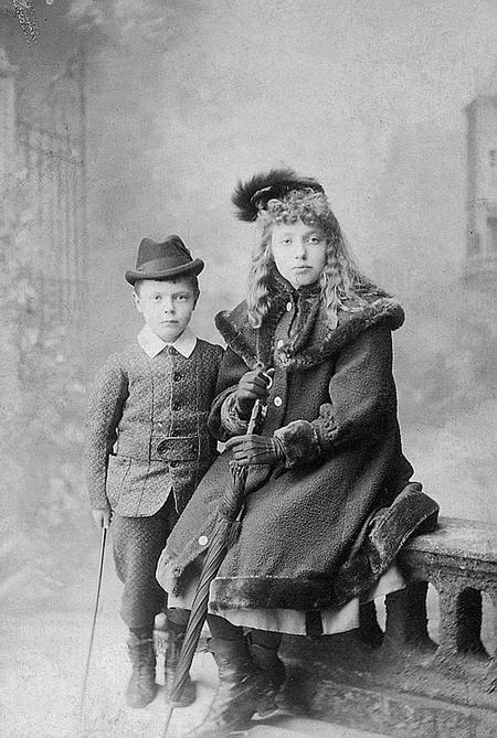 Charles and his sister Lilian