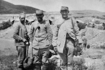 French soldiers, Salonkia Campaign, 1916.