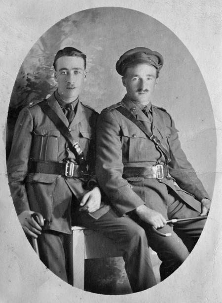 2/Lt Chappell and Australian officer, Cairo, 1916.