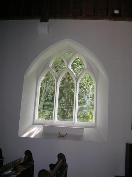 Eastbury Church etched window