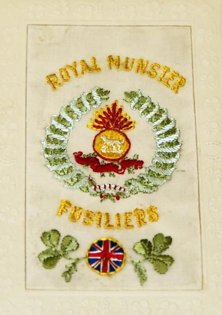 postcard of regimental badge http://transcribathon