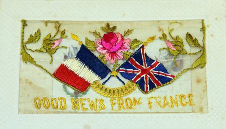 postcard of regimental badge