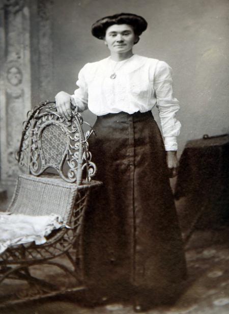 his wife, Hannah