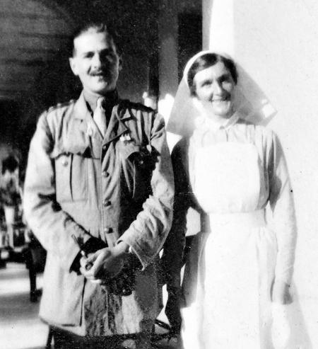 RAMC doctor and nurse, Imtarfa, Malta, 1916.