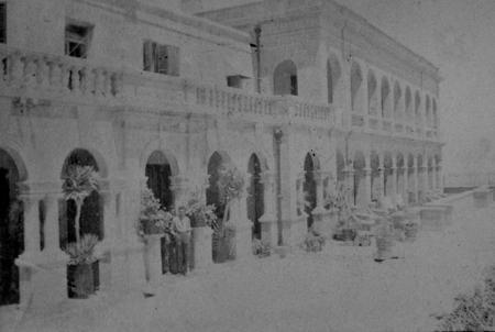 Ornate architecture of Imtarfa Hospital, Malta.