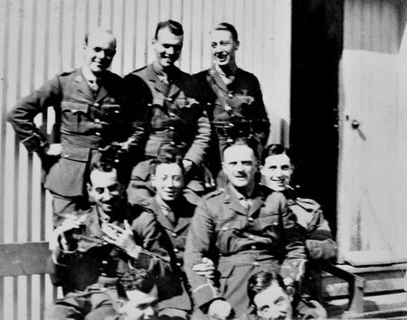 Junior officers, Sandhill Camp, Warminster, 1918.