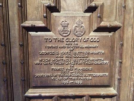 Memorial to Hugh and George Butterworth