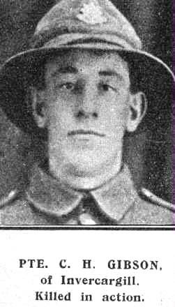 Private Clarence Hugh Gibson  #29766