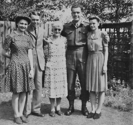 Family photograph at Sharnbrook, June 1945.