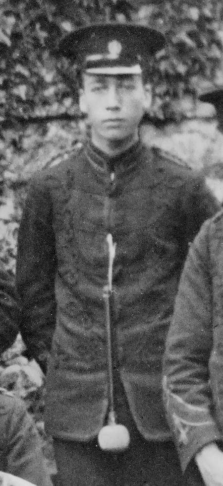 Edgar Chappell, Sharnbrook Brass Band, 1912.