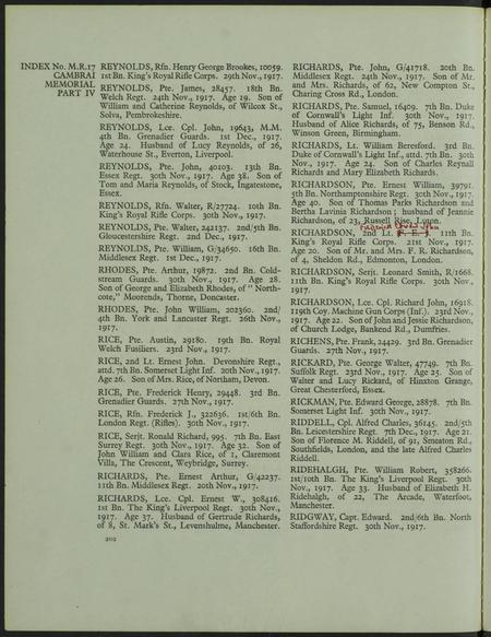 IWGC Cemetery Register