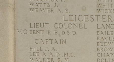 Lieutenant Colonel Philip Eric Bent VC