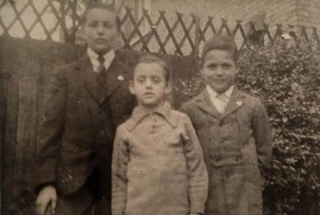 Charles' son Ken with his cousins at 3 Elyne Road