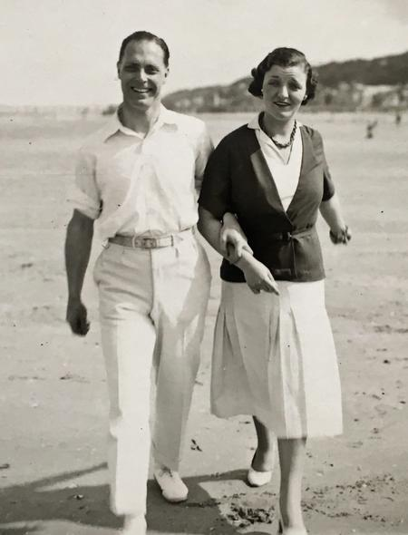 Charles and Eileen at Deauville, France