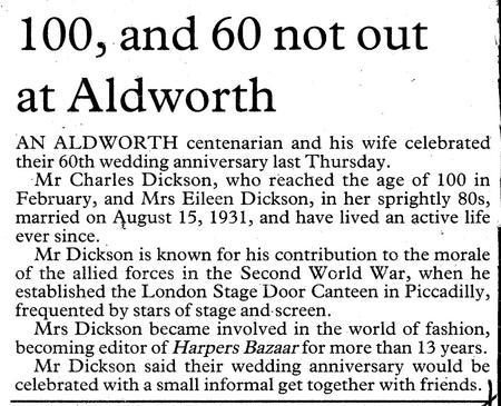 Charles and Eileen's Diamond Wedding Anniversary