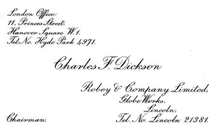 Charles - Chairman of Robey & Co. of Lincoln
