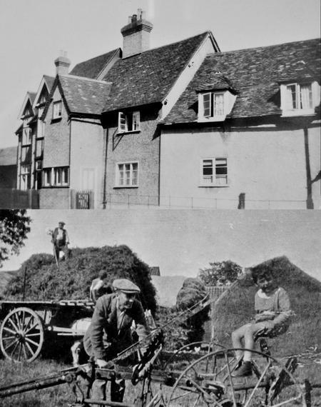 Manor Farm, Moggerhanger, 1923.