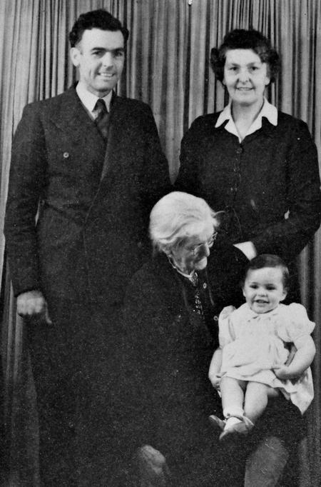 Four generations of family, 1947.