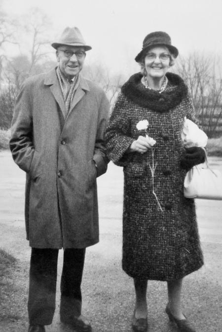 Edgar and Edith, Sharnbrook, 1972.