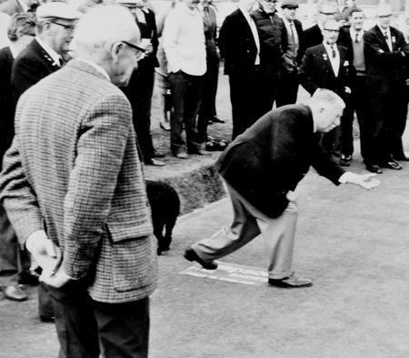 Sharnbrook Bowls Club, 1973.