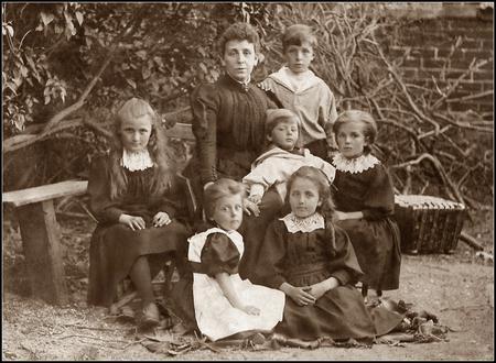 Emily Montgomery with her children (1891)