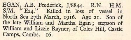 Frederick Egan Killed