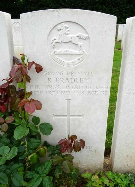 Robert Bradley's grave