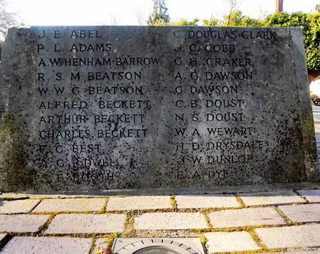 Shortlands War Memorial