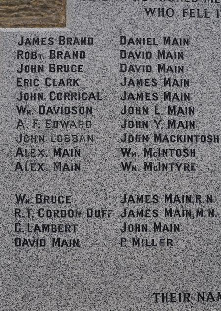 Hopeman War Memorial, Morayshire