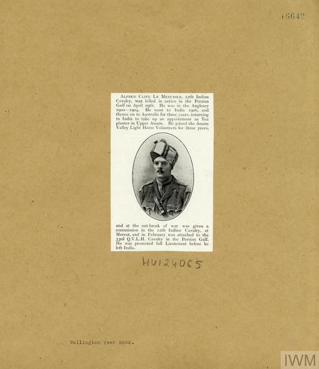 Press cutting Alfred Clive Le Musurier