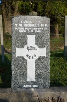 Headstone of Corporal Nicholls