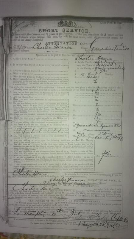 Service Record Charles Hearn 10372