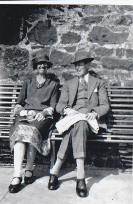 Adam Millar in 1929 with sister-in-law