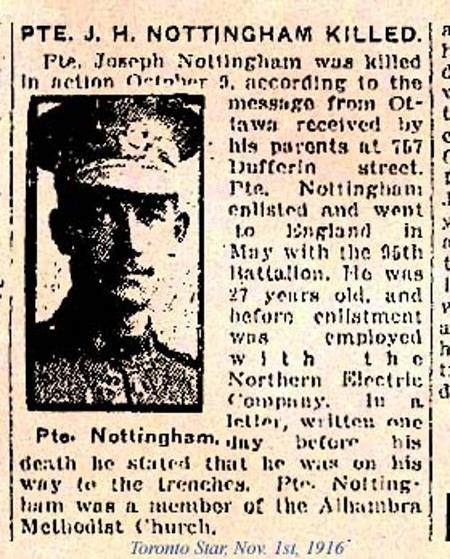 A Report on the Death of Joseph Howard Nottingham