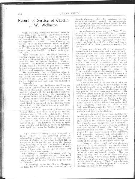 "Record of Service - ""Cabar Feidh""Vol IX No 68 Page"