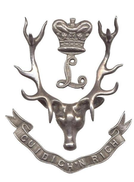 Seaforth Highlanders Officers' cap badge.