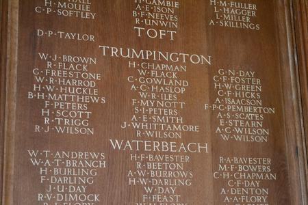 War Memorial, St George's Chapel, Ely Cathedral