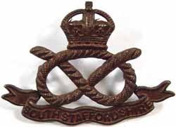 South Staffordshire Regiment  cap badge