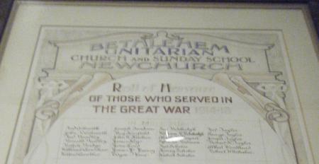 Memorial Scroll - Bethlehem Unitarian Church