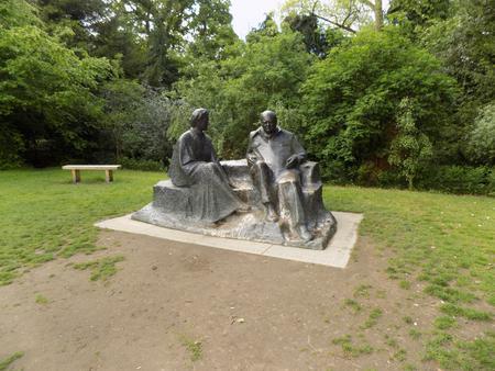 Sir Winston and Lady Churchill by Oscar Nemon