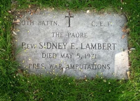 Profile picture for Rev Sidney Elijah Lambert
